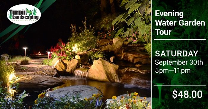 Evening Water Garden Tour in Chester & Montgomery County